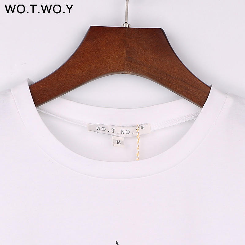 WOTWOY 18 Tumblr Lips T Shirt Women Summer O-Neck Casual Print Tops Women Cotton Short Sleeve Funny Tshirt Female Harajuku 11