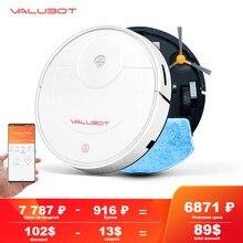 Valubot k100 robô aspirador de pó 1800pa pet cabelo doméstico robô limpeza mopping molhado aplicativo sem fio vácuo automático recarga