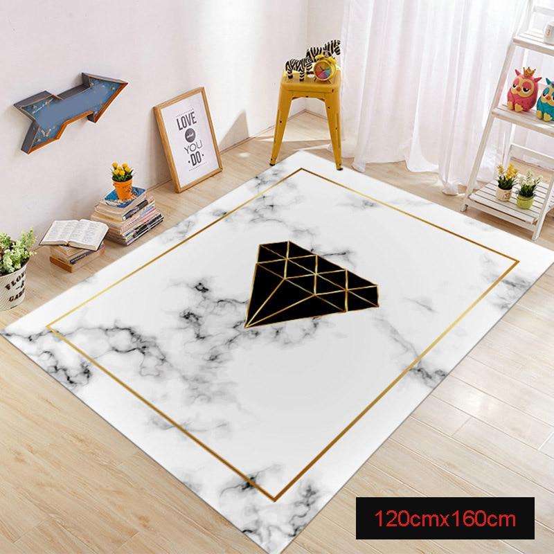Tapis de zone marbre doré lignes géométriques marbré décor à la maison tapis de sol tapis TP899