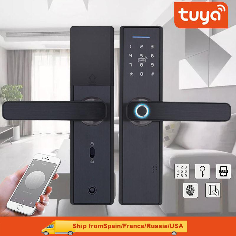 TUYA APP Operated Smart Fingerprint Padlock with Password Protected Lock for Home and Office Door 2