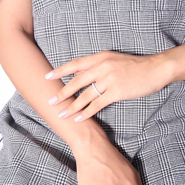 14K white Gold 2mm Moissanite Eternity Wedding Band for Women Gift Ladies Stackable Gold Wedding Ring
