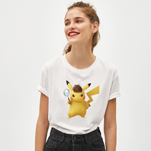 Pikachu T-shirt Women Summer Short Sleeve Ms Tshirts Tops Cotton Tees Girls First Choice Short-sleeve Cute Tee Shirt