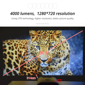Image 5 - TouYinger T7 T7K HD LED Home projector Bluetooth, 1280x720 Full HD video USB beamer for Cinema, 4000 lumens Android Optional