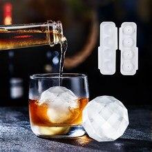 4-полость льда кубик прессформы шоколада поднос мороженого DIY инструмент виски вино коктейль льда Куб 3D Силиконовая форма