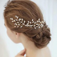 Accesorios para el cabello con diamantes de imitación para mujer, peines laterales de cristal para novia