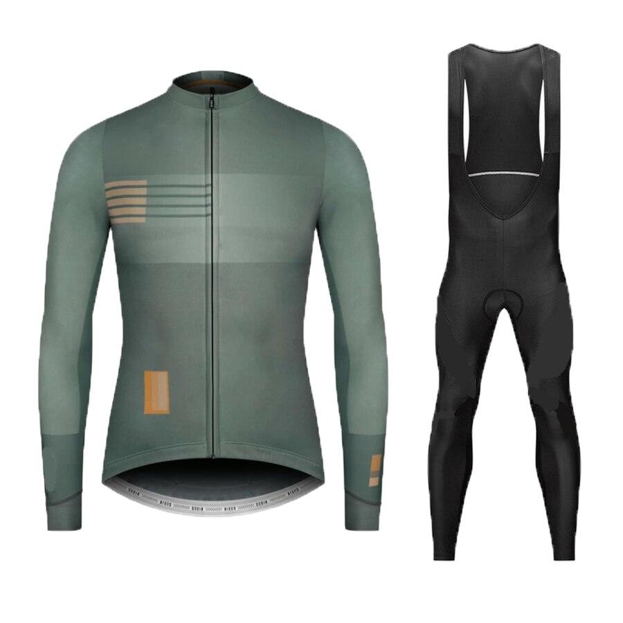 Printemps automne 2020 équipe NW à manches longues cyclisme jersey ensemble Ropa Ciclismo respirant course vélo vêtements vtt vélo 9D gel pad