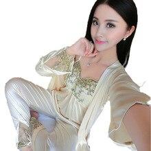 Woman Pajamas Set Sling Vs Pink Pajamas 3 Peices Sleepwear for Women Long Sleeves Breathable Sexy Robe Homewear Pijama Mujer