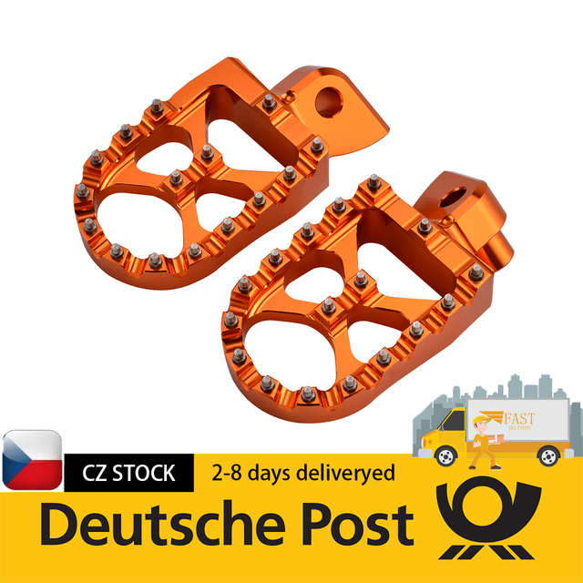 DE POST Foot Pegs Pedals Footrest Footpegs For 65 85 125 150 200 250 300 350 400 450 500 525 KTM SX SXF EXC EXCF XC XCF XCW XCFW 1