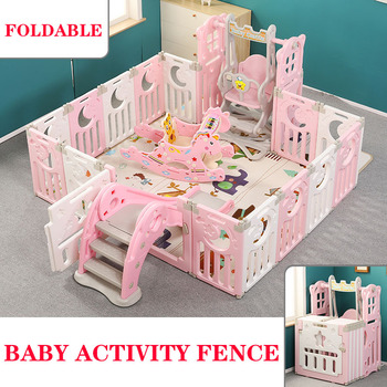 Baby Playpens Fencing for Children Activity Gear Indoor Outdoor Foldable Barrier Game Safety Fence Kids Play Yard kids play fence indoor baby playpens outdoor children activity gear environmental protection ep safety play yard