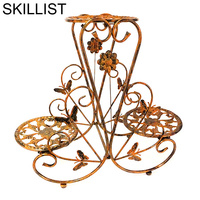 Exterieur garten dekoration raflar salincagi sera decorativo metal balkon dekarosyon balcon suporte de flor varanda planta prateleira