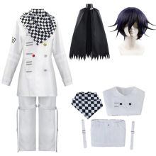Uniforme Anime Danganronpa V3 Kokichi Oma, ensemble cape écharpe, Costume Cosplay