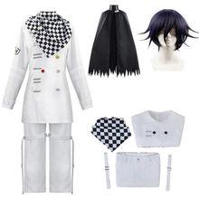 Anime Danganronpa V3 Kokichi Oma uniformes bufanda conjunto de capa de Cosplay