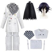 Anime Danganronpa V3 Kokichi Oma Uniforms Scarf Cloak Set Cosplay Costume