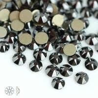Jet hematite 8 grande 8 pequeno cristal strass de vidro para roupas 2088 não-hotfix e quente fix flatback strass para pedra do prego