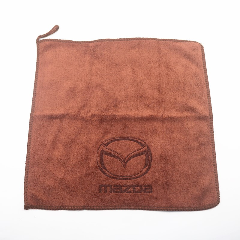 30*30CM Car Sticker Wash Microfiber Towel Car Cleaning For Mazda Axela 2 3 5 6 CX-3 CX-5 CX-7 CX-9 MX-5 Car Styling