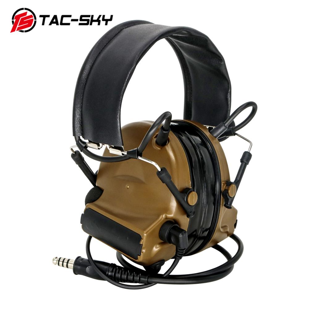 TAC-SKY COMTAC II Silicone Earmuffs Version Outdoor Hunting Sports Hearing Defense Noise Reduction Pickup Tactical Headset CB