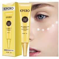 EFERO crema de ojos para el cuidado de la piel Esencia de ojos blanqueamiento Anti edad antiarrugas eliminar Círculos oscuros cremas para los ojos cara hinchada crema