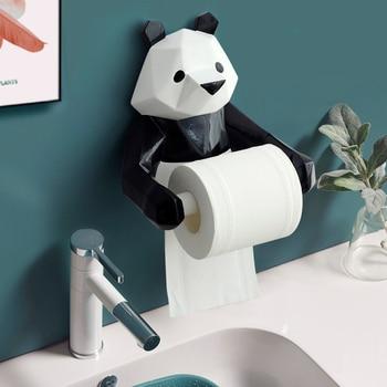 Porte Rouleau Papier Toilette Mural Original - Statuette Panda