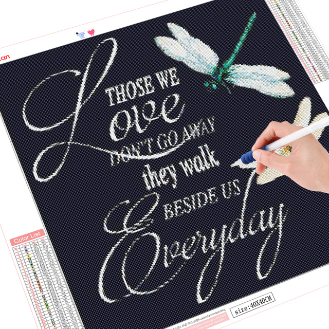 HUACAN 5D Diamond Painting Full Drill Square Butterfly Diamond Art Embroidery Flowers Decoration For Home Gift