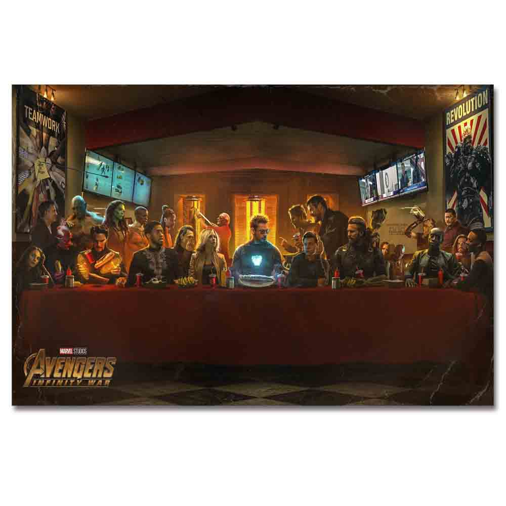 Avengers Infinity War The Last Shawarma Movie Art Silk Poster Prints 24x36 32x48 inches wall Picture For Living Room Decor image