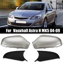 1 Pair Door Side Mirror Housing Wing Mirror Cover for Vauxhall Astra H Mk5 2004-2009 Gloss Silver