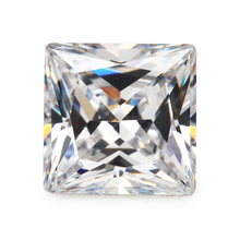 Size 1.5x1.5mm ~ 10x10mm 5A Square  Shape Princess Cut White Synthetic Cubic Zirconia Stone Loose CZ