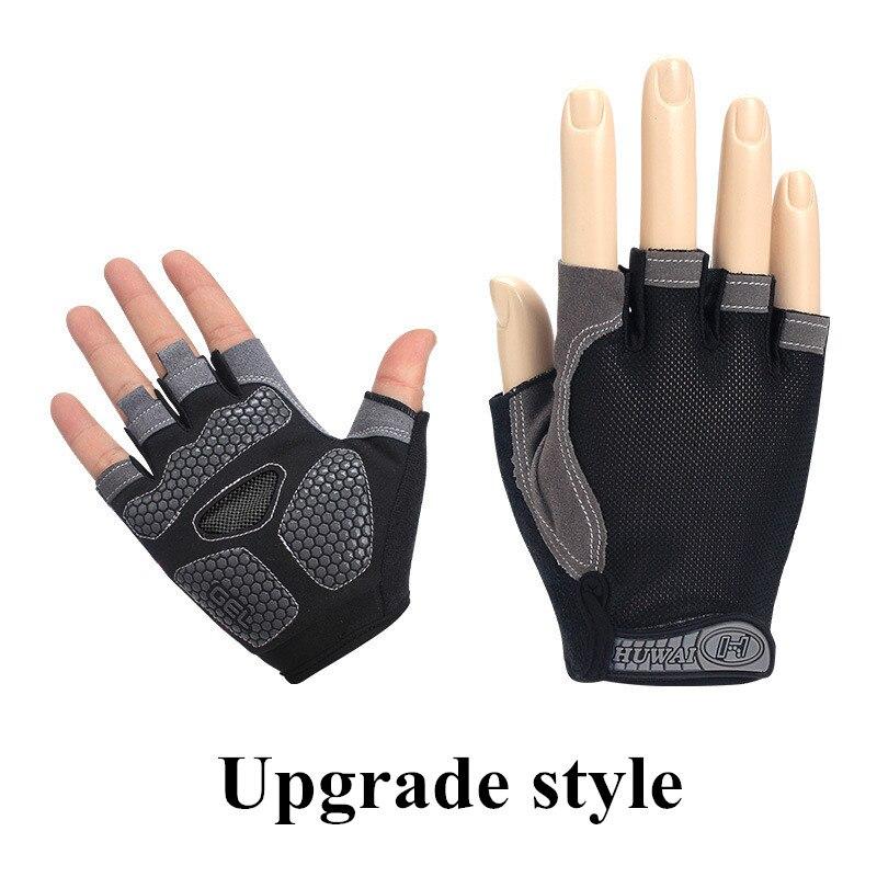 bodybuilding training thin breathable non-slip half finger gloves 3