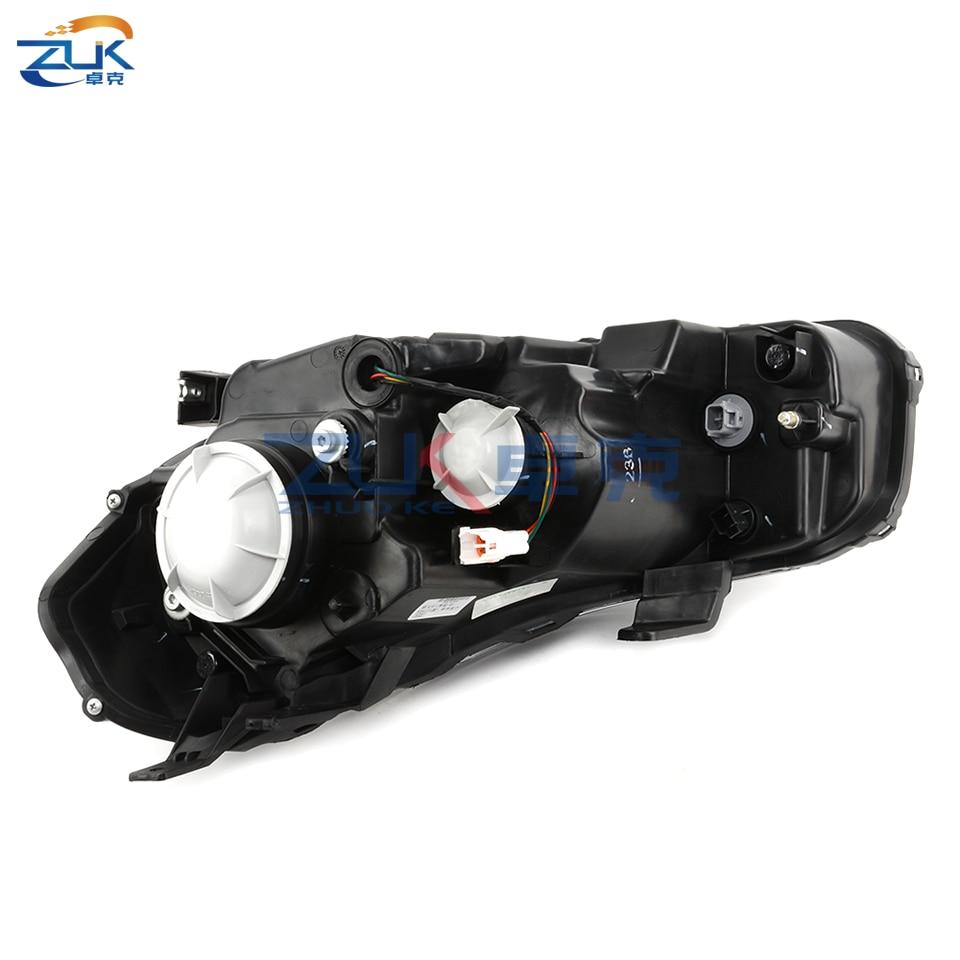 Zuk Pair Auto Nero Del Faro Del Faro di Aggiornamento Set Per Su zuk i SX4 2006 2016 Frontale Testa Luce Testa lampada modificato Kit - 5