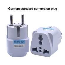 1 pçs universal ue plug adaptador au reino unido dos eua para ue euro ac adaptador de viagem tomada elétrica conversor