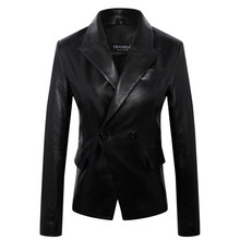 Fashion Genuine Jacket Plus Size Soft Leather Suit Suede Lady Business Suits Sales Women Coat(China)