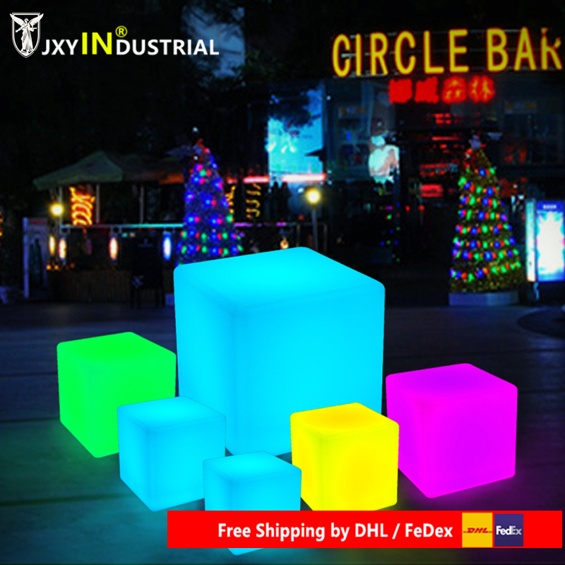 JXY led cube chair 40cm*40cm*40cm/ Colorful RGB Light LED Cube Chair JXY-LC400 to outdoor or indoor as garden seat