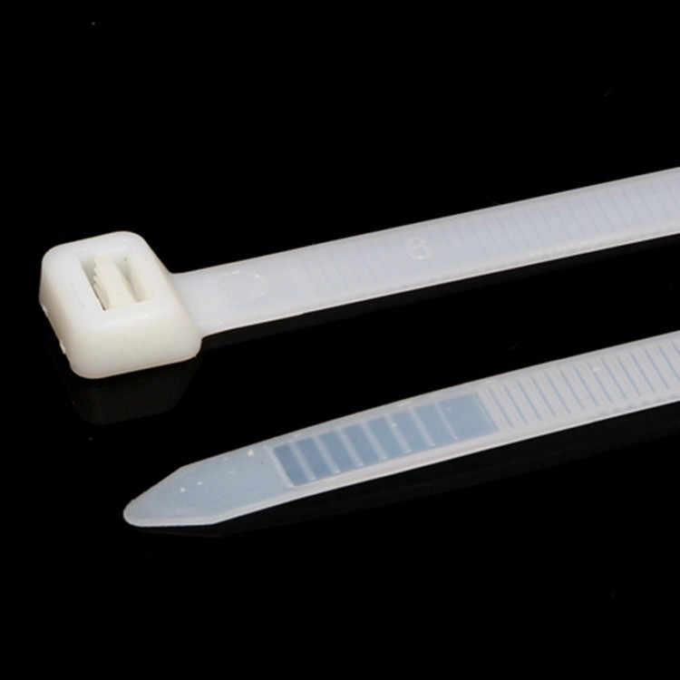 100 sztuk/partia 8x700mm samozamykające opaski kablowe nylonowe plastikowy zamek błyskawiczny krawat czarny/biały drut wiążące wrap pasy Nylon 66 8*700mm