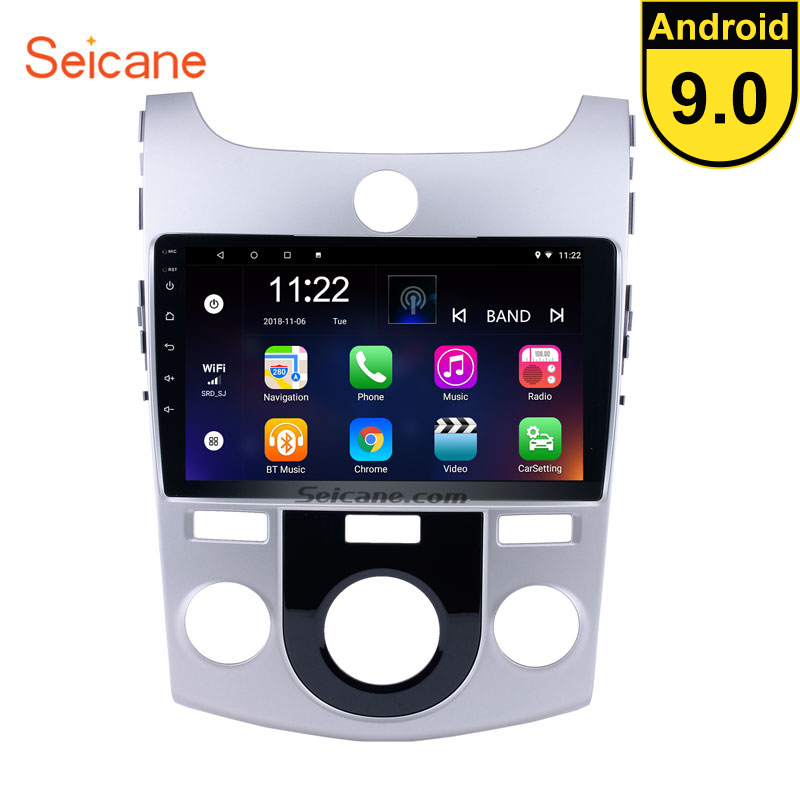 Seicane 9 inch Android 9.0 Car Radio GPS Navigation Multimedia Player for 2008 2009 2010 2011 2012 KIA Forte(MT) Audio Stereo