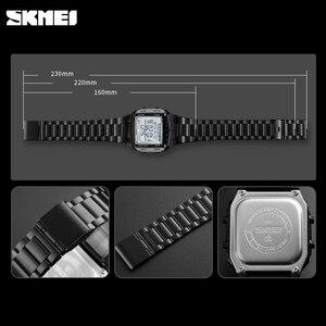 Image 5 - Herren Uhren SKMEI Sport Militär LED Digital Uhr Top Marke Luxus Elektronische Wasserdichte Männliche Armbanduhren Relogio Masculino