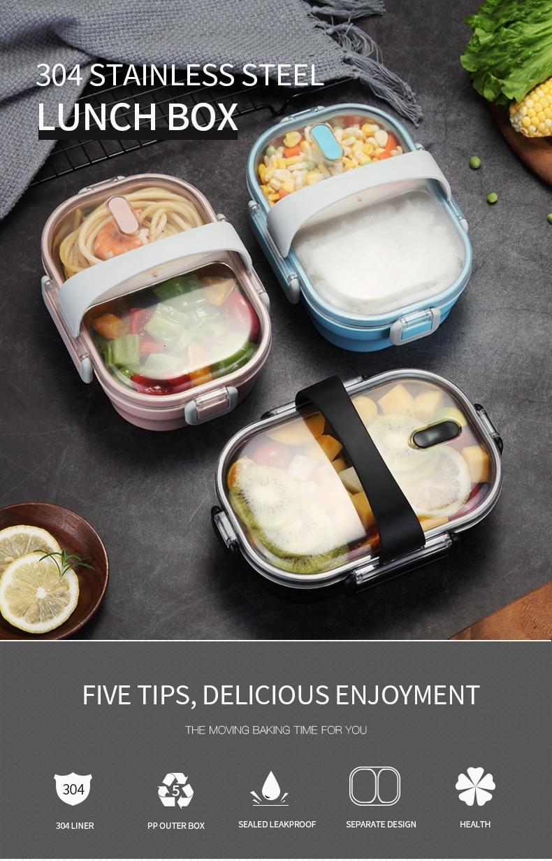 WORTHBUY японский Ланч-бокс для детей школы 304 из нержавеющей стали бенто Ланч-бокс герметичный контейнер для еды детская коробка для еды