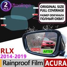 For Acura RLX 2014~2019 Full Cover Anti Fog Film Rearview Mirror Rainproof Clear Anti-Fog Films Accessories 2015 2016 2017 2018