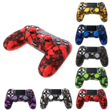For PS4 Skull Silicone Gamepad Cover Case + 2 Joystick Caps For PS4 Pro Slim Controller(China)