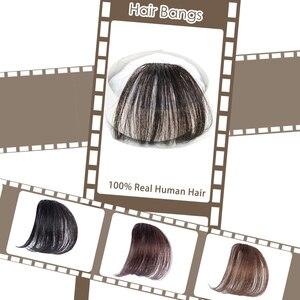 Moresoo, накладные волосы на заколках спереди с воздушной бахромой, одна деталь, прямые человеческие волосы Remy, аксессуары без висков для волос