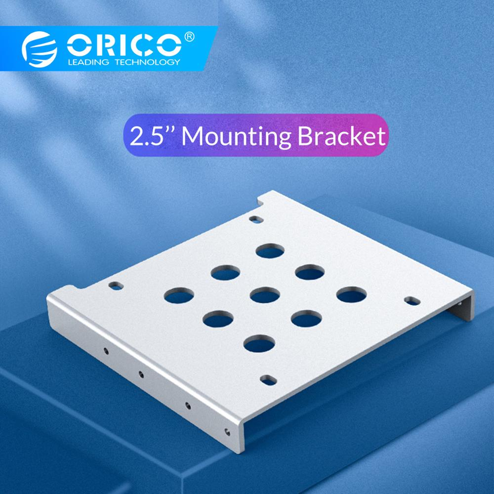 ORICO 2.5 Inch HDD SSD Hard Drive Mounting Adaptor Bracket Dock 8 Screws Hard Drive Holder For PC Hard Drive Enclosure