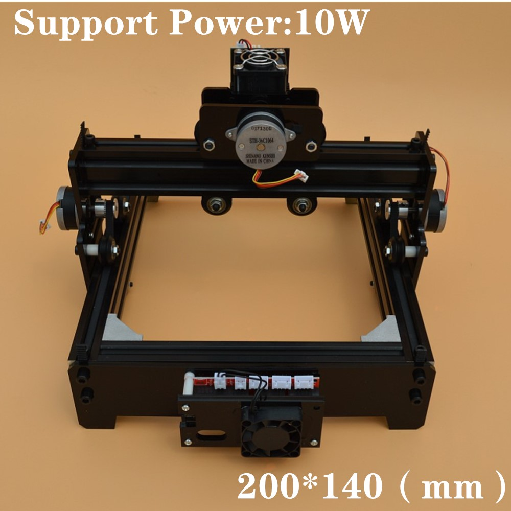 14*20cm Mini <font><b>10W</b></font> <font><b>CNC</b></font> <font><b>Laser</b></font> Engraving Machine High Power and High Precision <font><b>Laser</b></font> Metal Engraving Machine Metal Marking Machine image