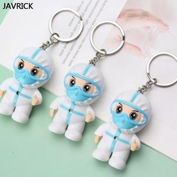 Souvenir White Angel Keychain Cartoon Nurse Keyring Pendant with Hook I-Love-U Music Thanksgiving Present Toy Gift - discount item  29% OFF Fashion Jewelry