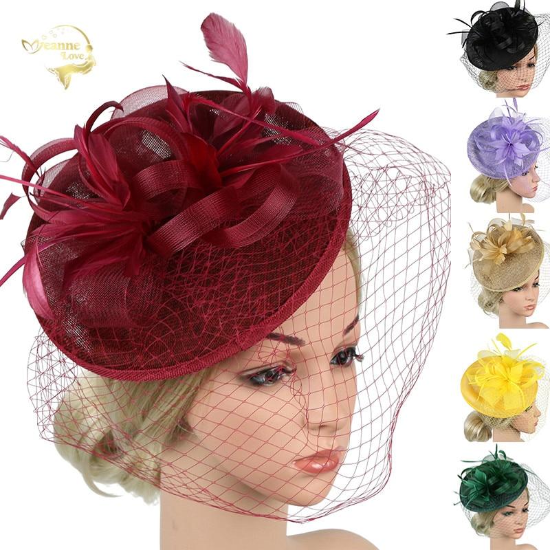 Wedding Bridal Hats And Fascinators Headpiece Party Hat/corsage Black Bridcage Net Wedding Veil Party Ladies Hair Accessories