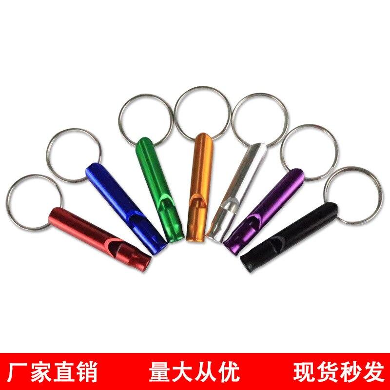 10pcs Small Aluminum Alloy Whistle Outdoor Survival Fire Whistle Training Whistle Outdoor EDC Tools Whistle Keychain