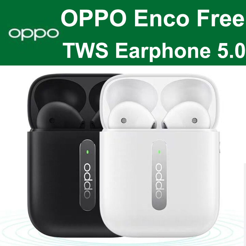 OPPO Enco Free Buds TWS 5.0 Official Original True Wirelss Stereo Earphone Headset Hands-free Headphone For OPPO Realme VIVO