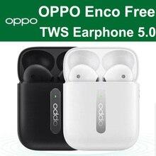OPPO Enco 프리 버드 TWS 5.0 공식 오리지널 트루 Wirelss 스테레오 이어폰 헤드셋 핸즈프리 헤드폰 OPPO Realme VIVO, 오포 리얼미 비보용 헤드폰