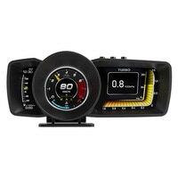 Ap-7 Obd2 + Gps + Hud del tablero de instrumentos del coche la pantalla coche velocímetro con estilo del odómetro instrumento de alerta de seguridad sistema de alarma