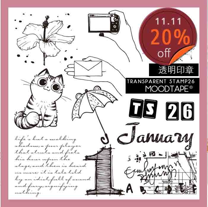 Moodtape Vintage Clear Stamp For DIY Scrapbooking/photo Album Decorative Transparent Stamp Cat Month Rubber Stamp Seal