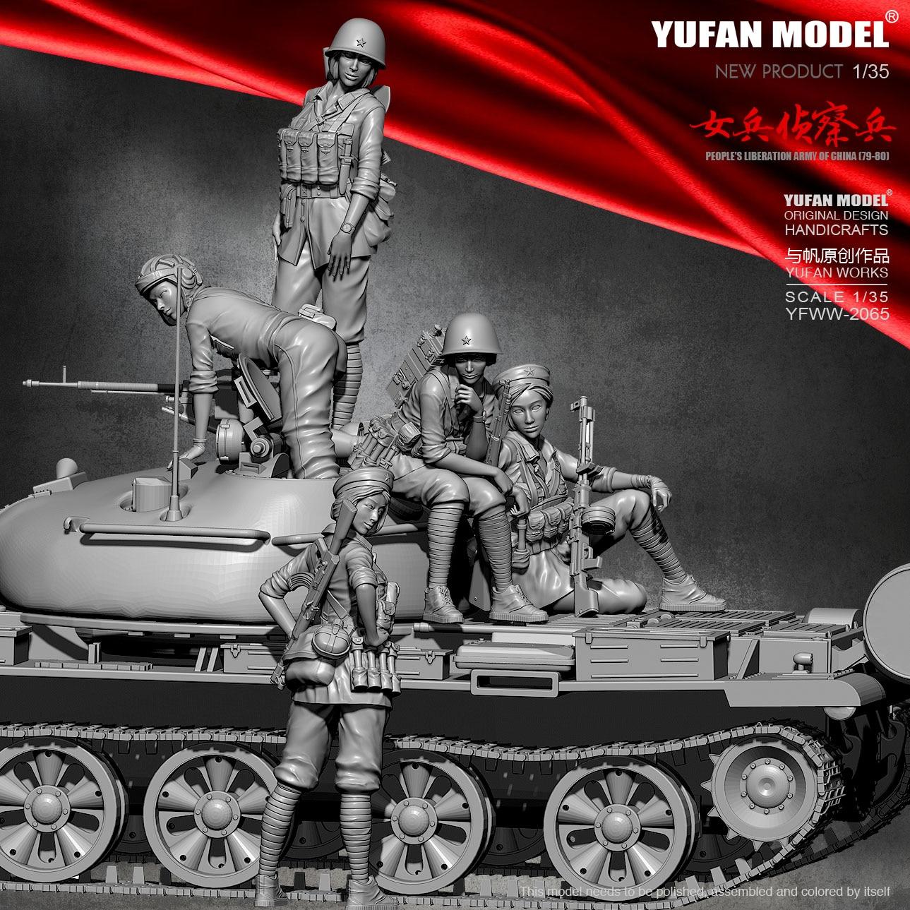Kits de figuras de resina modelo Yufan, modelo femenino explorador, YFWW-2066 autoensamblados, 1/35
