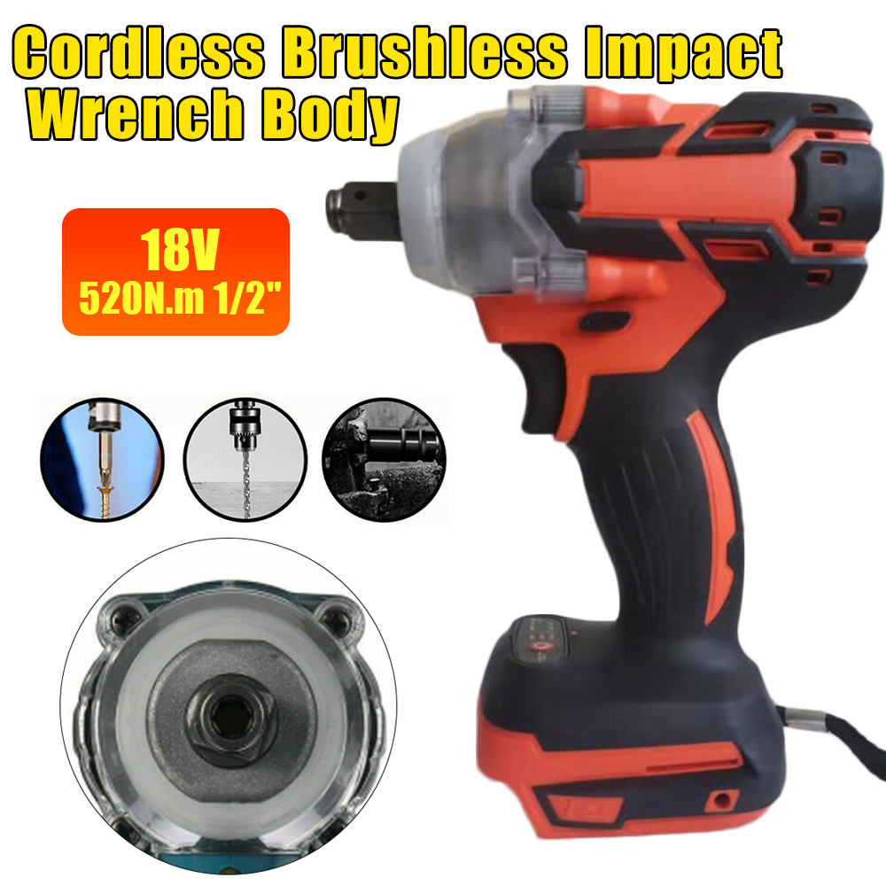 For Makita 18V 520N.m Electric Brushless Impact Wrench 1/2