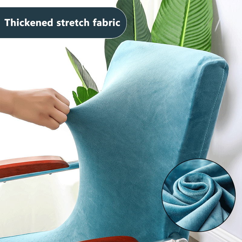 Office Stretch Waterproof Spandex Chair Covers Anti-dirty Computer Seat Chair Cover Removable Slipcovers for Office Seat Chairs 1